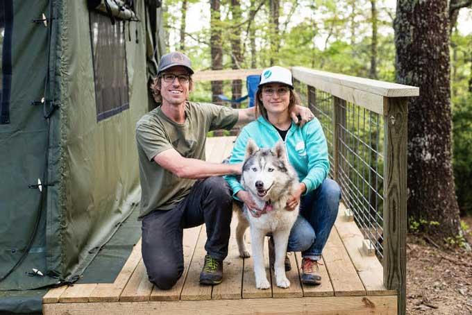 Holistic vet Dr. Laurel Davis offers dog advice to the Surls family