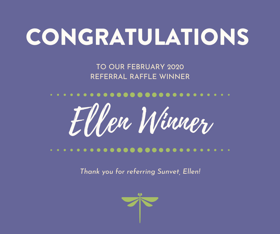February 2020 Referral Raffle Winner 1