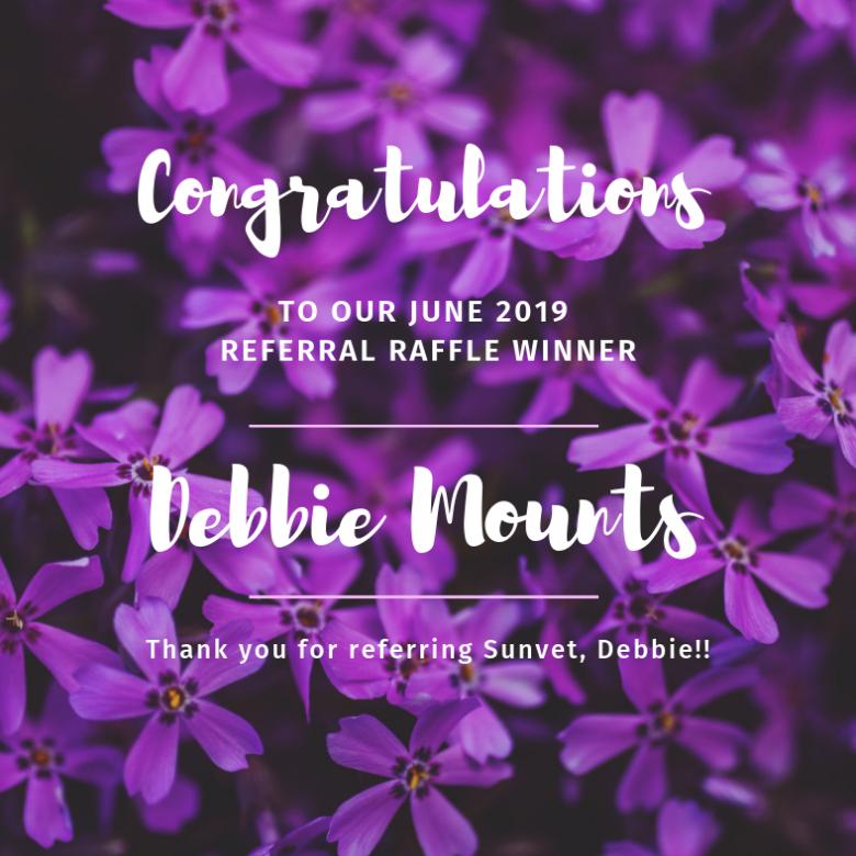 June 2019 Referral Raffle Winner