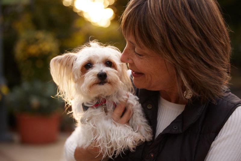 dr laurel Davis and white dog